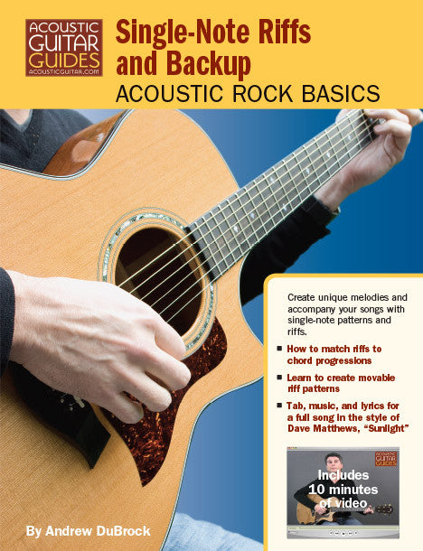 Acoustic Rock Basics: Single-Note Riffs and Backup