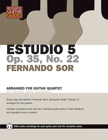 Guitar Quartet: Estudio 5, Op. 35, No. 22 by Fernando Sor