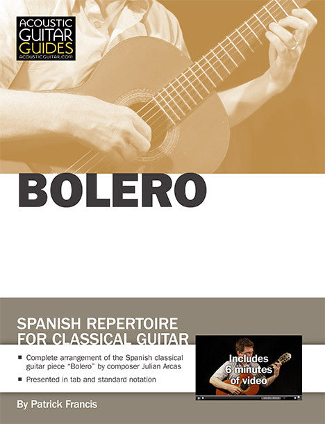 Spanish Repertoire for Classical Guitar: Bolero