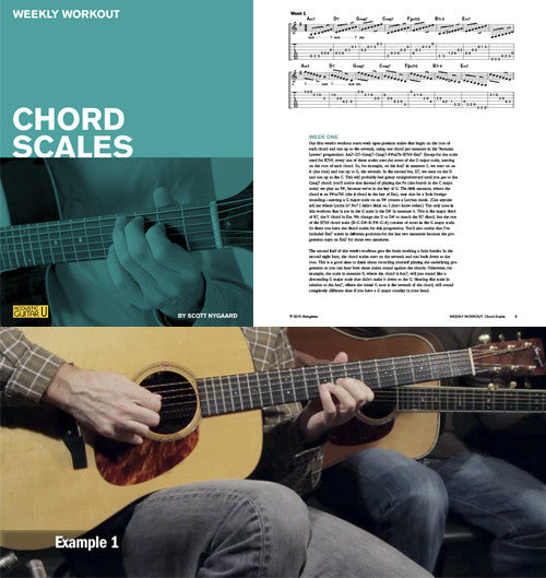 Weekly Workout:  Chord Scales