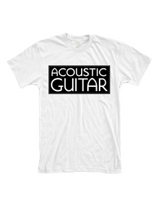 Acoustic Guitar T Shirt, White