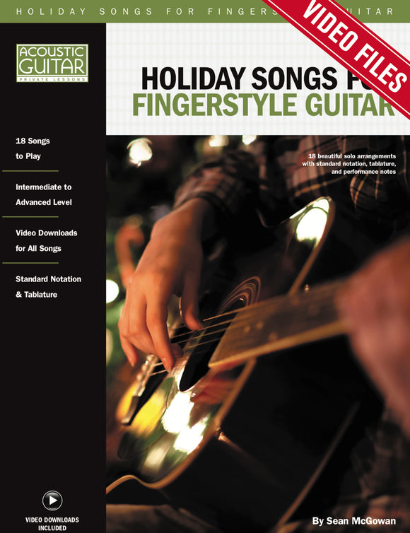 Holiday Songs for Fingerstyle Guitar: Video Tracks