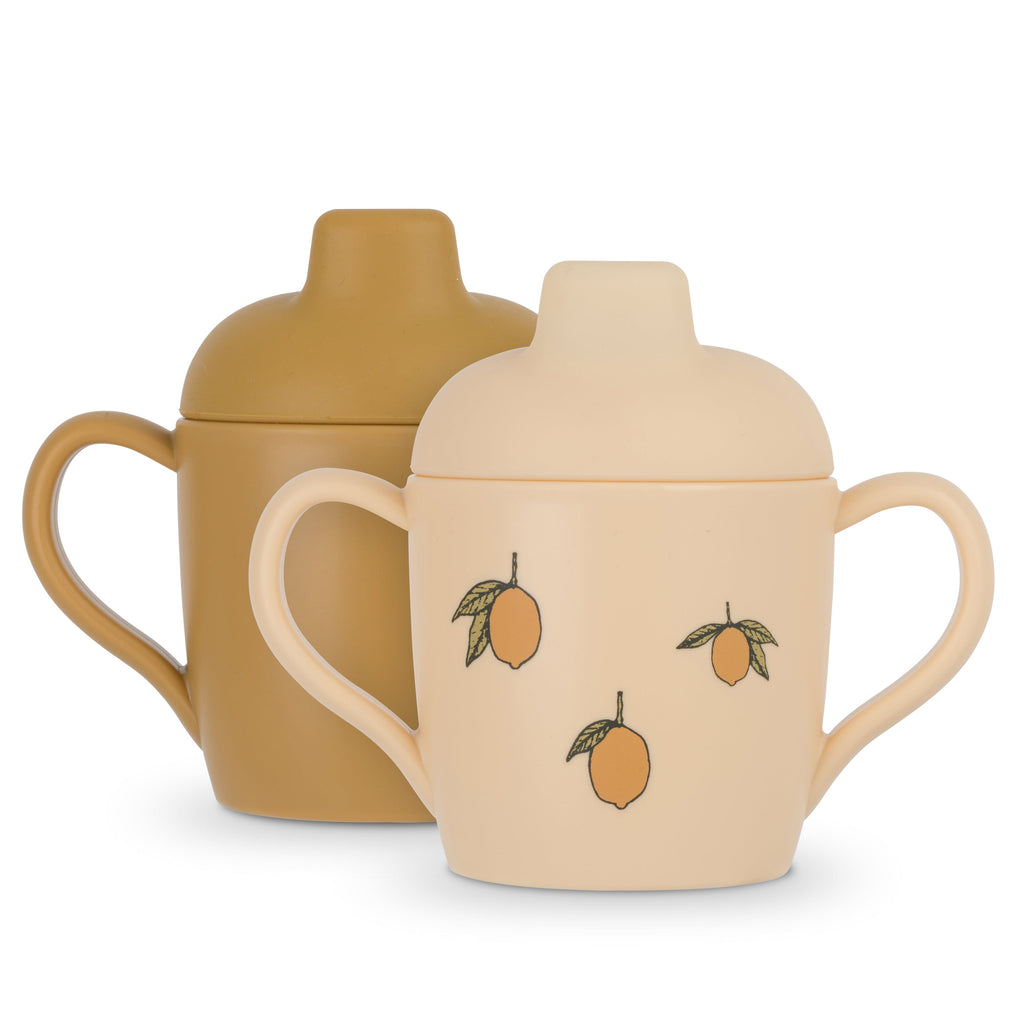 Lot de 2 tasses à bec - Citron - Konges Sløjd
