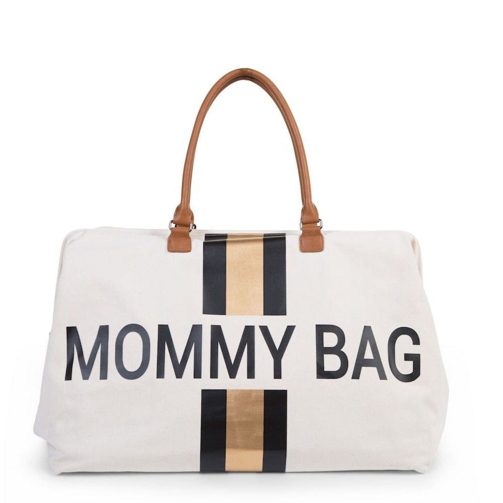 Sac à langer - Mommy Bag - Ecru Rayures or/noir - Childhome