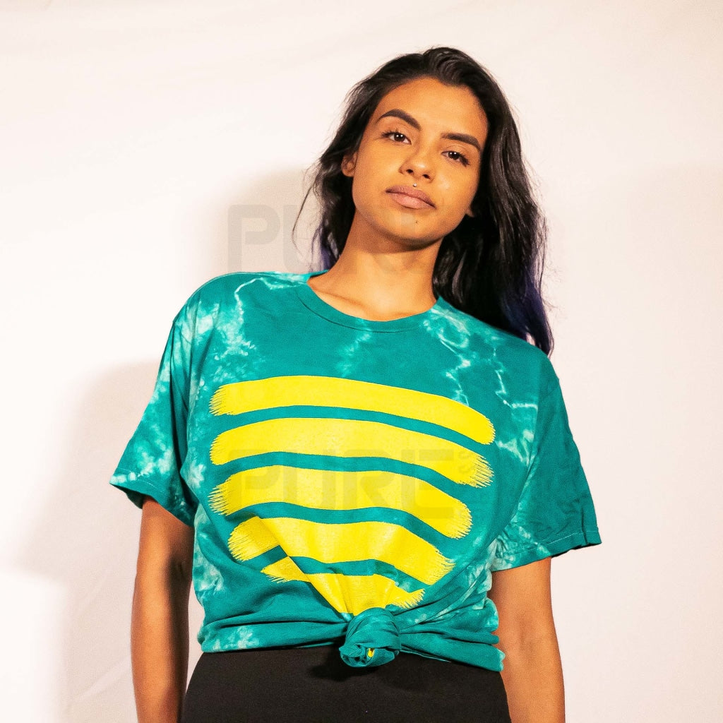 Pure Teal Tie Dye T-Shirt Small
