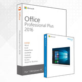 Bundle: Windows 10 Home + Office 2016 Professional Plus