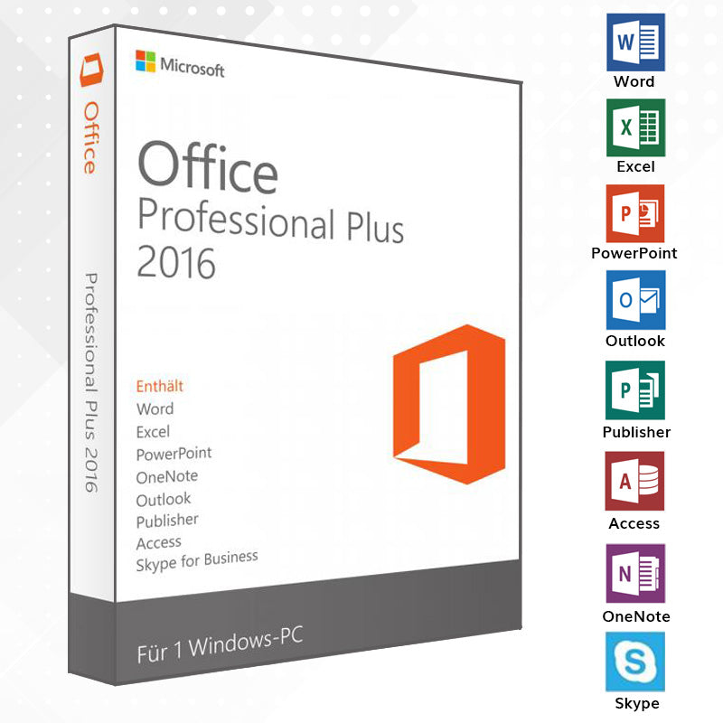 Office 2016 Professional Plus Vollversion