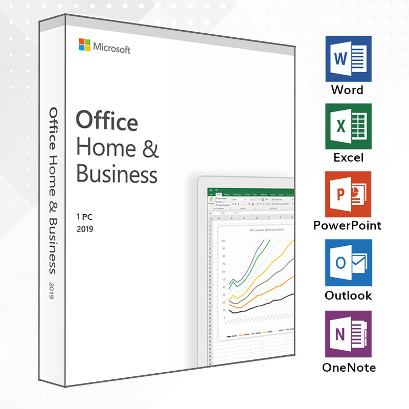 Microsoft Office 2019 Home and Business Vollversion PC