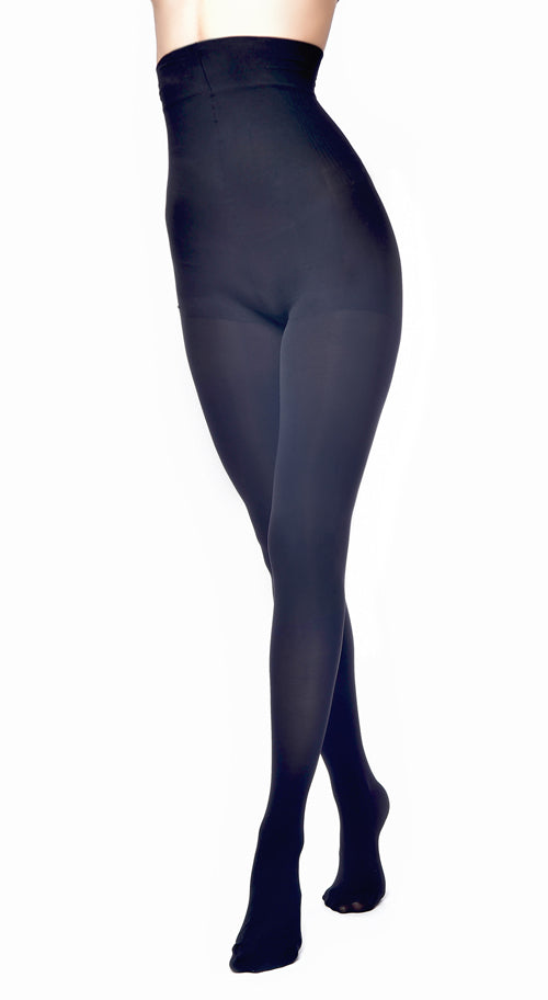 100 DENIER HIGH WAISTED TIGHTS BLACK