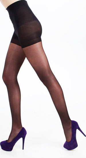 15 DENIER BODY CONTROL TIGHTS GLOSS BLACK
