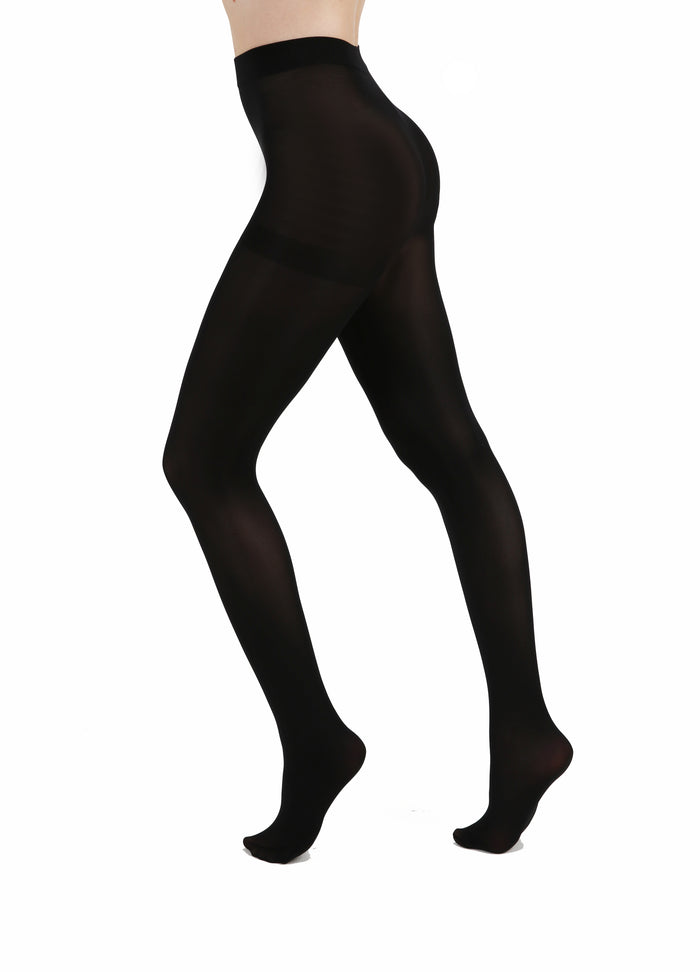 80 DENIER BLACK TIGHTS SIZE 16-18