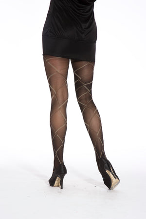 CHAIN LINK TIGHTS BLACK ONE SIZE
