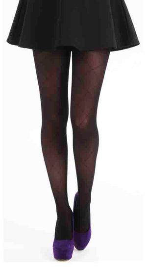 LARGE DIAMOND TIGHTS BLACK
