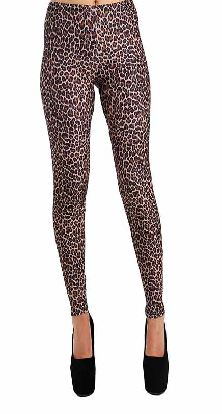 PETITE LEOPARD LEGGINGS SMALL/MEDIUM