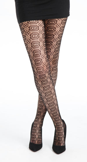 KATHERINE WHEEL BLACK TIGHTS ONE SIZE