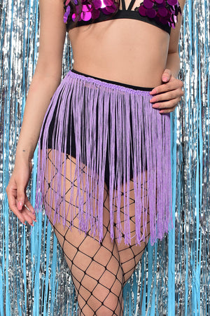 FESTIVAL EXTRA LARGE NET TIGHTS WITH LILAC TASSEL ONE SIZE
