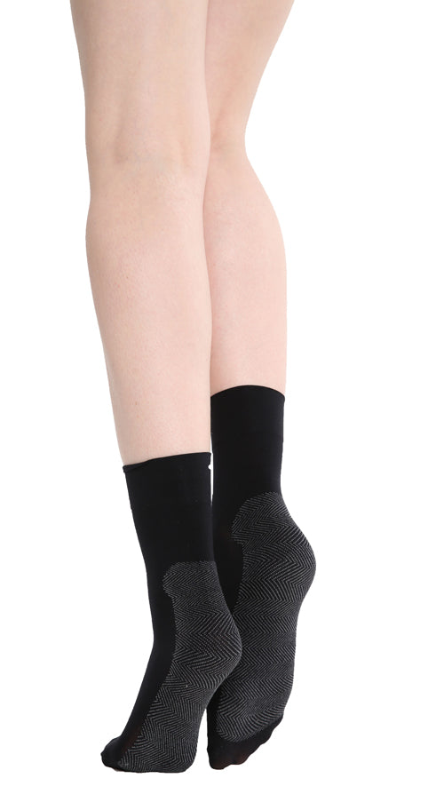 SOLE CUSHION ANKLE SOCK BLACK