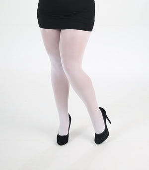 50 DENIER TIGHTS WHITE SIZE 16-18