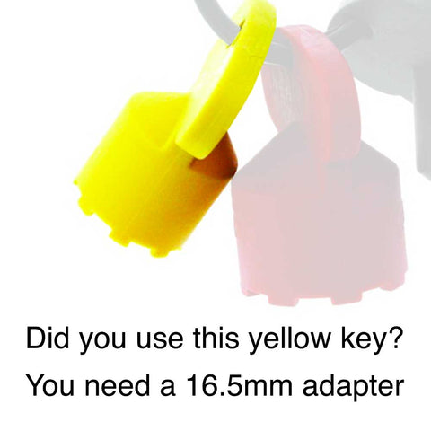 Adapter: 18mm female by 22mm male
