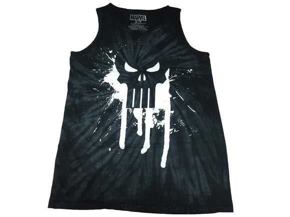 Marvel Punisher Dripping Skull Logo War Zone Frank Castle Tie Dye Men's Tank Top - tshirtconnect