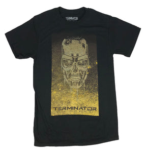 Terminator Men's T Shirt John Connor Arnold Schwarzenegger Gold Logo Graphic Tee