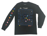 Pacman Men's Long Sleeve T Shirt Retro Arcade Video Game Ghost Sleeve Print - tshirtconnect