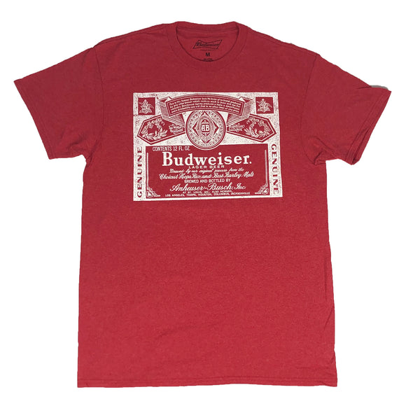 Budweiser Men's T Shirt Beer Can Logo Classic Alcohol Lager Beer - tshirtconnect