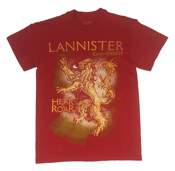 Game of Thrones Men's T Shirt House Lannister Hear Me Roar Sigil Crest - tshirtconnect