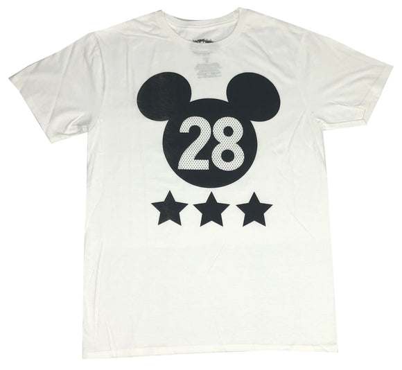 Disney Men's T Shirt Mickey Mouse Ears Outline Disneyland Graphic Tee