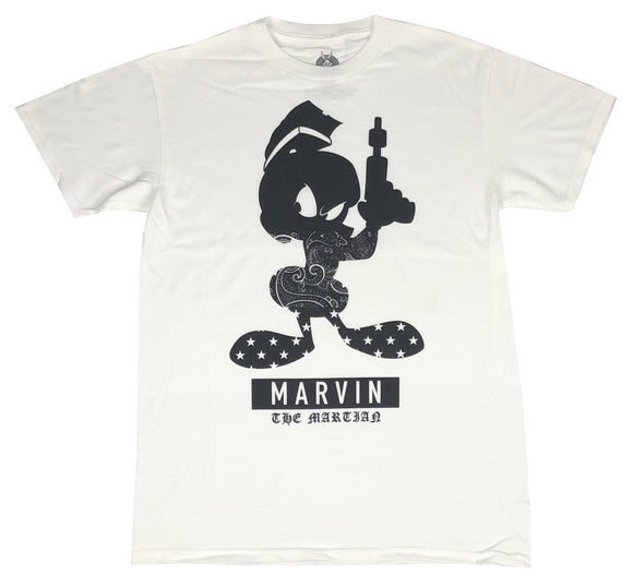 Men's Looney Tunes T Shirt Marvin The Martian Logo Graphic Tee