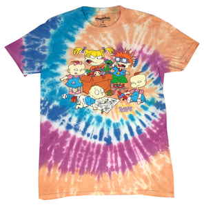 Nickelodeon Men's T Shirt Rugrats Phil Chuckie Angelica Phil Lil Tie Dye Tee
