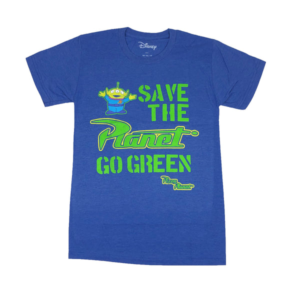 Disney Toy Story Pizza Planet Go Green Aliens Men's T Shirt - tshirtconnect