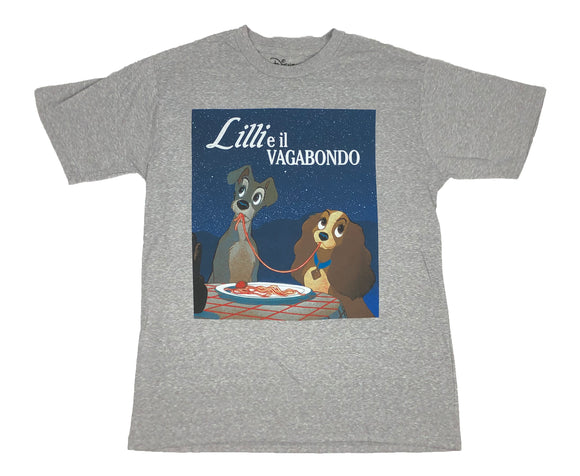Disney Lady And The Tramp Movie Scene Men's T Shirt - tshirtconnect