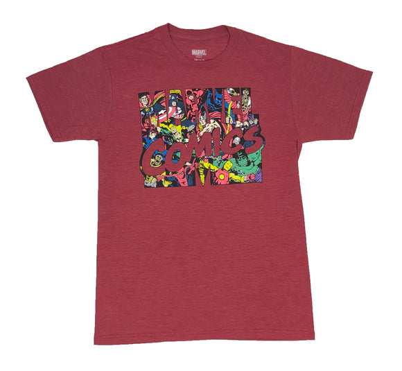 Marvel Comics Logo Men's T Shirt Avengers X-Men Defenders Doctor Strange - tshirtconnect