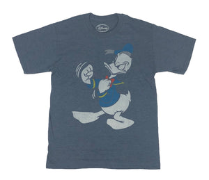 Disney Donald Duck Sailor Fighting Distressed Men's T Shirt - tshirtconnect
