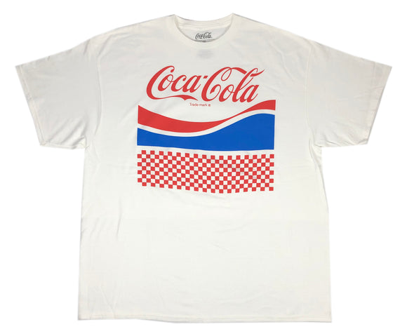 Men's Coca-Cola T Shirt Coke Checkered Logo Retro Colorway Drink Beverage Tee - tshirtconnect