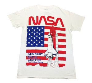NASA Kennedy Space Center Logo Florida Men's T Shirt - tshirtconnect