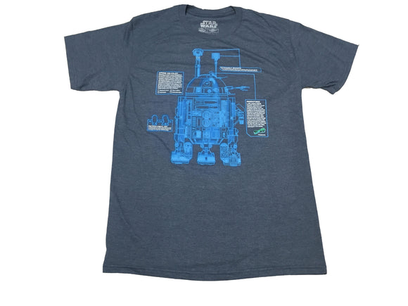 Star Wars R2D2 Droid Schematic Blueprint Men's T Shirt - tshirtconnect