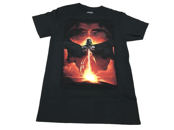 Star Wars Men's T Shirt Darth Vader Fiery Light Saber Graphic Tee - tshirtconnect