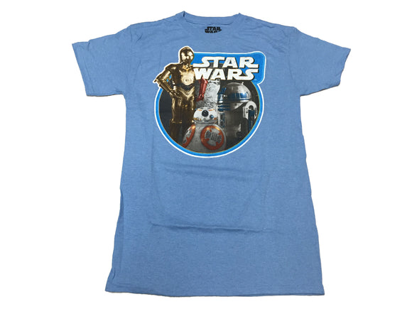 Star Wars The Force Awakens C3P0 R2D2 BB-8 Men's T Shirt - tshirtconnect