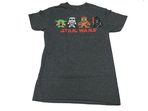 Star Wars 8 Bit Characters Darth Vader Stormtrooper Chewbacca Yoda Men's T shirt - tshirtconnect