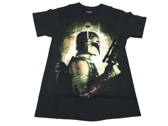 Star Wars Boba Fett Side Pistol Bright Portrait Men's T Shirt - tshirtconnect