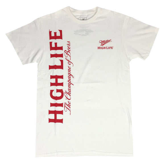 Miller High Life Men's T Shirt Champagne Of Beers Graphic Tee - tshirtconnect