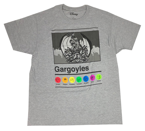 Disney Gargoyles Cast Logo Disneyland Disneyworld Mens T Shirt - tshirtconnect