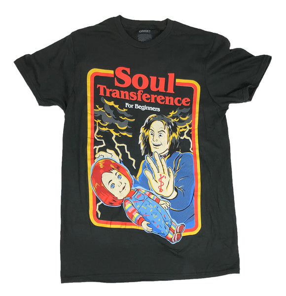 Chucky Soul Transference Poster Childs Play Horror Movie Retro Mens T Shirt - tshirtconnect