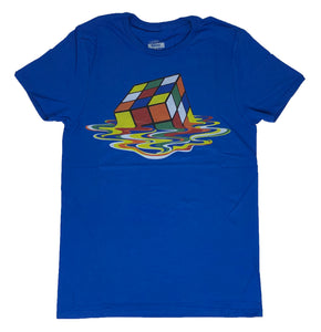 Rubiks Cube Men's T Shirt Melting Cube Toy Graphic Tee - tshirtconnect