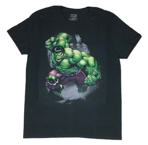 Marvel Men's T Shirt Hulk Ground Slam Avengers Graphic Tee - tshirtconnect