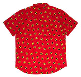 Disney The Incredibles Men's T Shirt Button Up Logo All Over - tshirtconnect