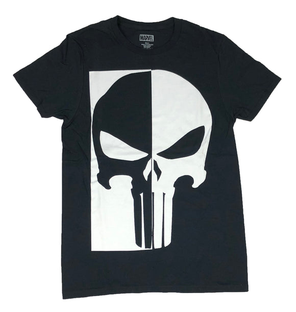 Marvel Comics The Punisher Big Skull Logo Black White Frank Castle Men's T Shirt - tshirtconnect