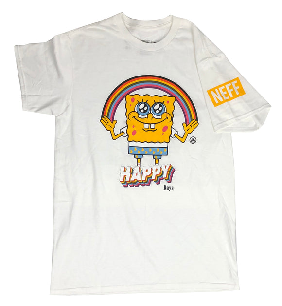 Spongebob Squarepants Neff Collab Happy Days Nickelodeon Mens T Shirt - tshirtconnect